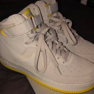 Nike air force 1 wb (gs) suede light grey